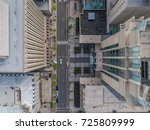 top down view above tall... | Shutterstock . vector #725809999