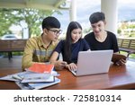 people  education  technology... | Shutterstock . vector #725810314
