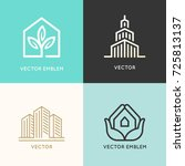 vector set of logo design... | Shutterstock .eps vector #725813137