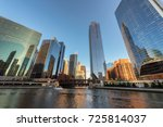 chicago city. chicago downtown... | Shutterstock . vector #725814037