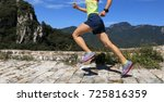 young fitness woman trail... | Shutterstock . vector #725816359