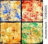 grunge checkered background | Shutterstock . vector #72582001