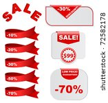 sale design elements for web   Shutterstock .eps vector #72582178