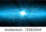 binary circuit board future... | Shutterstock .eps vector #725823364