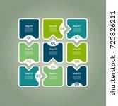 vector progress background.... | Shutterstock .eps vector #725826211