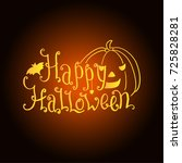 halloween banner with lettering ... | Shutterstock .eps vector #725828281
