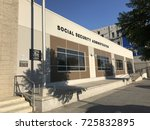 Small photo of LOS ANGELES, JULY 28TH, 2017: Exterior of the Social Security Administration building on Vine Street in Los Angeles, California, on a sunny day with blue sky.