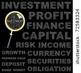 investment. vector illustration ... | Shutterstock .eps vector #72583324