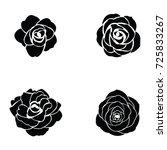 black silhouette of rose   Shutterstock .eps vector #725833267