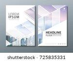 white annual report brochure...   Shutterstock .eps vector #725835331