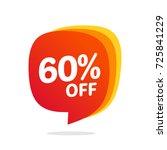 60 discount  sales vector...   Shutterstock .eps vector #725841229
