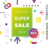sale banner template design.... | Shutterstock .eps vector #725841511