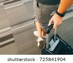 traveler woman's hand holding... | Shutterstock . vector #725841904