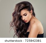sexy young fashion model.... | Shutterstock . vector #725842381