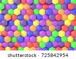 colorful background. 3d... | Shutterstock . vector #725842954