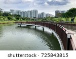 bridge and park at singapore... | Shutterstock . vector #725843815