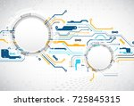 vector illustration  hi tech...   Shutterstock .eps vector #725845315