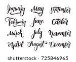 vector handwritten type... | Shutterstock .eps vector #725846965