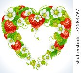 vector strawberry frame in the... | Shutterstock .eps vector #72584797