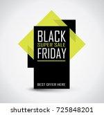 black friday sale banner in... | Shutterstock .eps vector #725848201