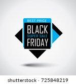 black friday sale banner in... | Shutterstock .eps vector #725848219