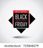 black friday sale banner in... | Shutterstock .eps vector #725848279