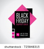 black friday sale banner in... | Shutterstock .eps vector #725848315