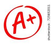 grade result   a . hand drawn...   Shutterstock .eps vector #725852011