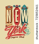 sakateboard. vintage skateboard ... | Shutterstock .eps vector #725852461