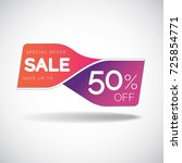 sale banner design template for ... | Shutterstock .eps vector #725854771