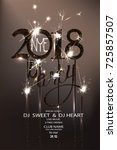 new year eve 2018 party... | Shutterstock .eps vector #725857507