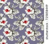 beautiful blooming realistic... | Shutterstock . vector #725858449