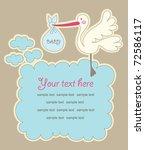 frame design for baby gteeting... | Shutterstock .eps vector #72586117