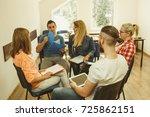 team collaboration meeting... | Shutterstock . vector #725862151