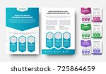 vector white flyer template... | Shutterstock .eps vector #725864659