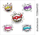 comic speech bubbles set with... | Shutterstock .eps vector #725864935