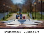 memorial monument with an... | Shutterstock . vector #725865175