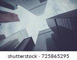 buildings in downtown toronto ... | Shutterstock . vector #725865295