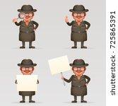 cute detective spy... | Shutterstock .eps vector #725865391
