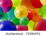 Many Colored Balloons Forming ...