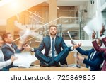 young handsome business man in... | Shutterstock . vector #725869855