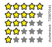 5 star rating. vector icon for...
