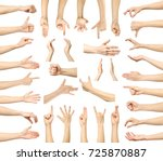 multiple images set of female... | Shutterstock . vector #725870887