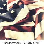 american flag. the national... | Shutterstock . vector #725875141