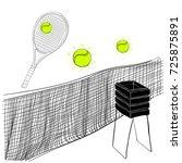 vector illustration of tennis... | Shutterstock .eps vector #725875891