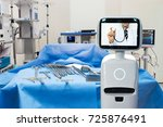 robotic advisor service... | Shutterstock . vector #725876491