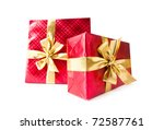 Gift Boxes Isolated On The...