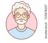 the face of an old man.... | Shutterstock .eps vector #725878207