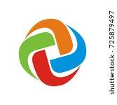 circular abstract logo design... | Shutterstock .eps vector #725879497
