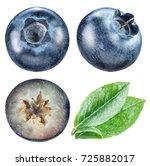 blueberries and blueberries... | Shutterstock . vector #725882017